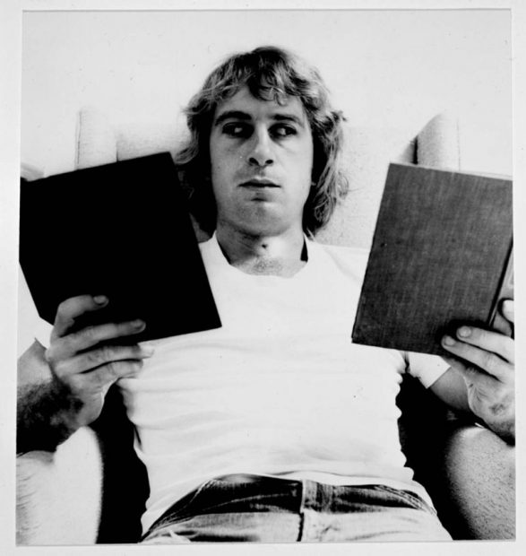 William Wegman, Reading Two Books, 1971