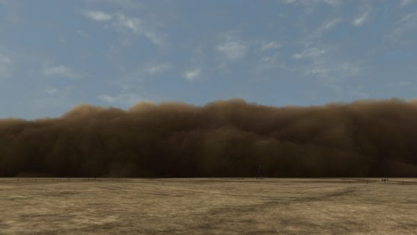 John Gerrard, Dust Storm (Dalhart, Texas), 2007