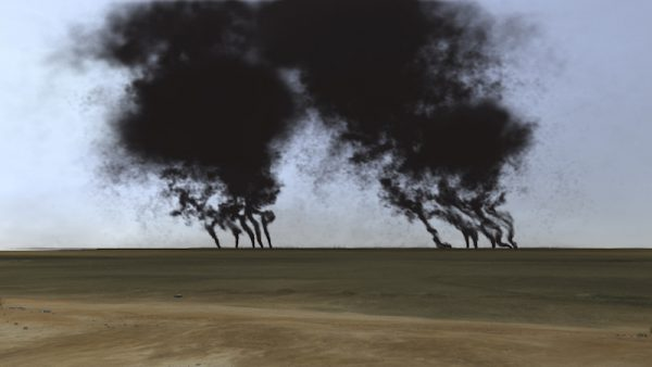 John Gerrard, Burning Oil Fields, 2013