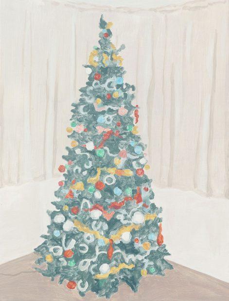 Francesca Fuchs, Xmas Tree 2, 2014, acrylic on canvas