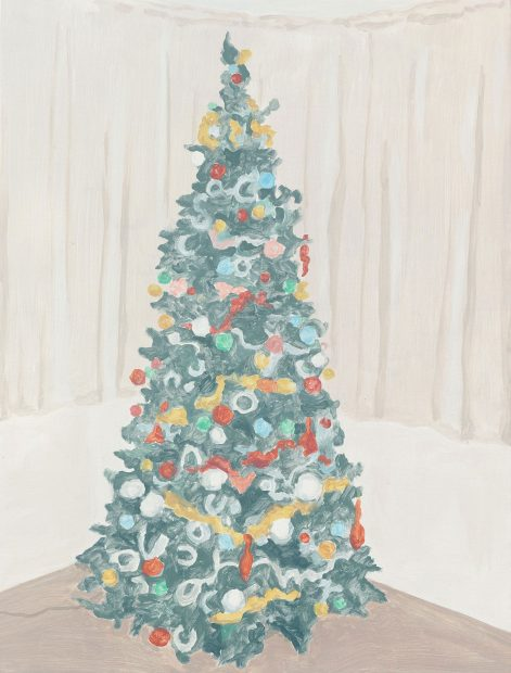 Francesca Fuchs, Xmas Tree 2, 2014, acrylic on canvas