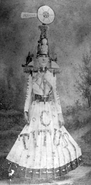 Corinne Baker Wingfield in Windmill Costume