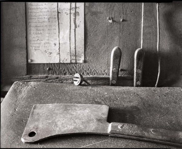 "Meat Cleaver at Turner Dingee, 1983, Fort Worth, Texas, gold chloride, 16"" x 20"""