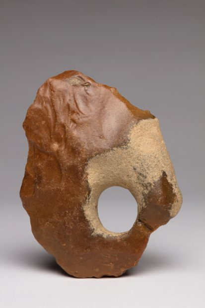 Handaxe, France ca. 500,000-300,000 Flint 6 x 4 1/2 x 1 1/2 in. (15.2 x 11.4 x 3.8 cm) Tony Berlant Collection