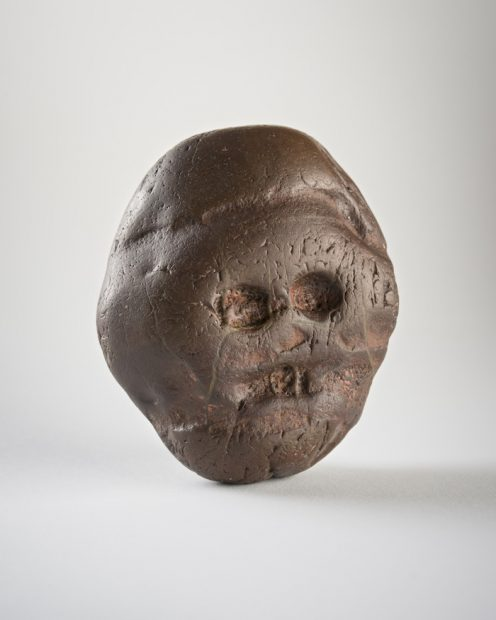 Makapan pebble, Makapansgat, South Africa ca. 2.5 million Jasperite 3 x 2 1/2 in. (7.6 x 6.3 cm) University of the Witwatersrand, Johannesburg, South Africa