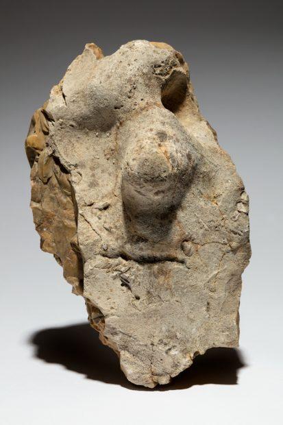 Neanderthal figure stone, Fontmaure, France ca. 150,000- 50,000 Flint 12 1/2 x 7 1/2 x 4 1/2 in. (31.7 x 19 x 11.4 cm) Tony Berlant Collection