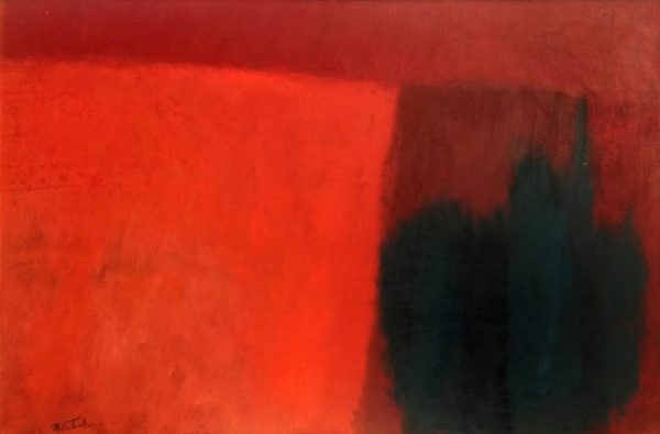"Earthscape, 1963, casein on board, 38"" x 48"", courtesy William Reaves 