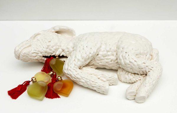 Celia Eberle, Altar, 2015, ceramic, acrylic, perfume
