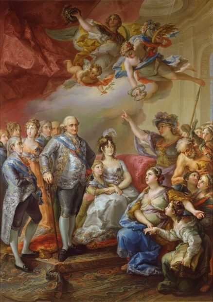Vicente Lopez y Portaña, Charles IV and his Family Honored by the University of Valencia, 1802. Oil on canvas, 350.5 x 250.5 cm.
