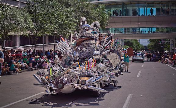Image from the 2017 Art Car Parade. Photo by Morris Malakoff.