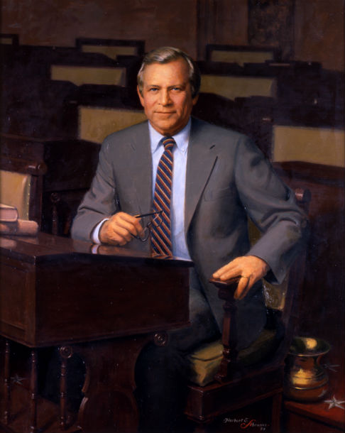 Herbert Elmer Abrams' painting of Senator (and lifelong photographer) Howard Baker Jr.