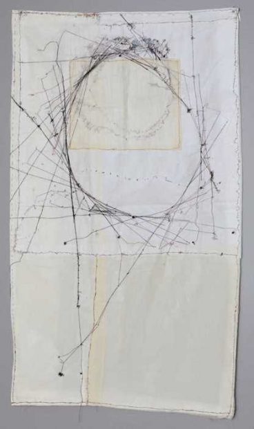 Amber Scoon; Title: Philosophy, Medium: Fabric and Thread, Size: 3'x5', Year: 2017