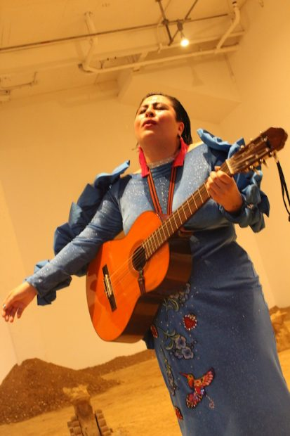 Chuparosx, performance of ranchera songs, El Sancha, performance organized by Rafa Esparza, Artpace