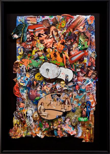 A 3D collage by Paul Horn (Image: Deborah Colton Gallery)