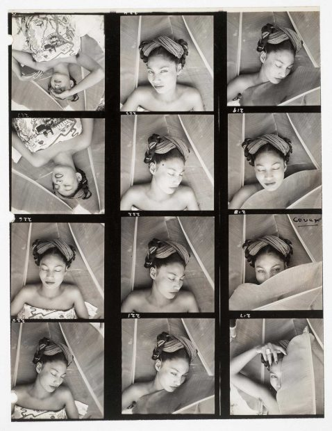 Fritz Henle (American, b. Germany, 1909–1993), [Nieves Orozco], 1943. Gelatin silver print (contact sheet). Fritz Henle Papers and Photography Collection, Harry Ransom Center © The Fritz Henle Estate