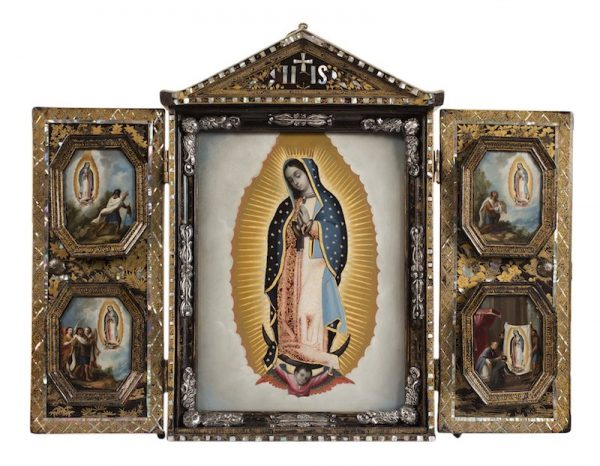 Artist unknown, New Spain Virgin of Guadalupe with Four Apparitions (Virgen de Guadalupe con las Cuatro Apariciones), mid-18th century