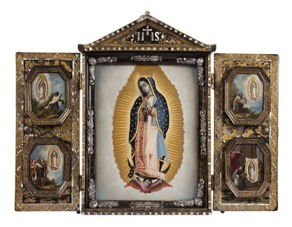 Artist unknown, New Spain Virgin of Guadalupe with Four Apparitions (Virgen de Guadalupe con las Cuatro Apariciones), mid-18th century