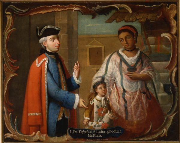 Jose de Páez (New Spain, 1720-1790) De Español e India produce Mestizo, from series of Mexican Castes, ca. 1780