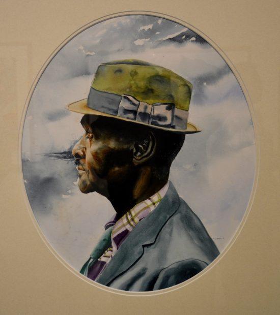 Reverend, watercolor, 1972