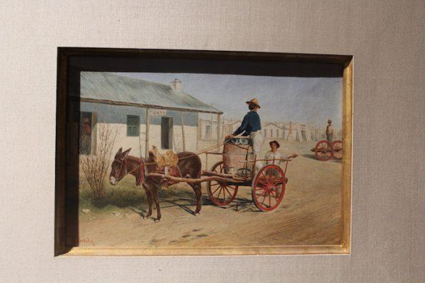 Theodore Gentilz, El Aguador, oil on canvas