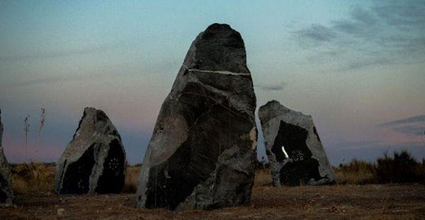 Haroon Mirza's stone circle
