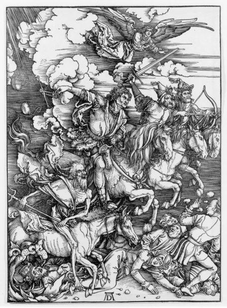 Albrecht Dürer, The Four Horsemen, from The Apocalypse, 1498, Woodcut.