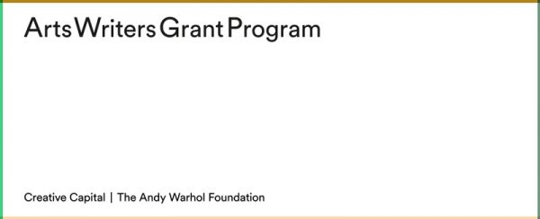 Arts Writers Grant