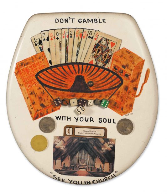 Don't Gamble with Your Soul toilet seat