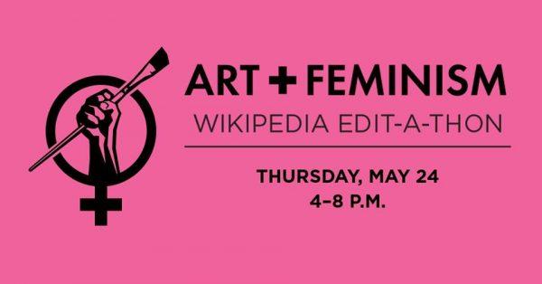 Art+Feminism Wikipedia Edit-a-Thon logo