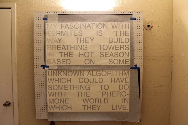 Correspondence from PowerPoint Presentation on Eastgate Centre (Excerpt) by Mick Pearce, curated by Jesse Morgan Barnett