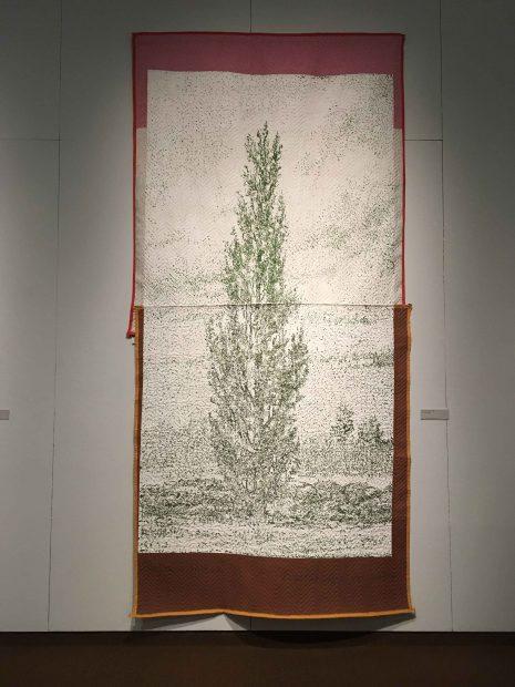 Lombardy Poplar, 1999. Acrylic on moving blanket