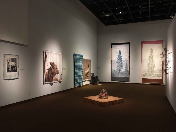 Installation view of Sticks and Stones: Works by Helen Altman