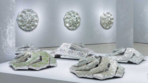 Installation view of Monir Shahroudy Farmanfarmaian