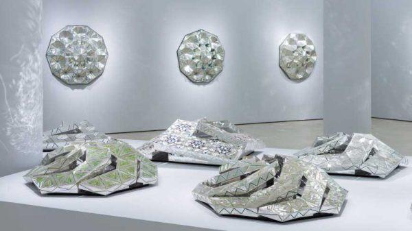 Installation view of Monir Shahroudy Farmanfarmaian