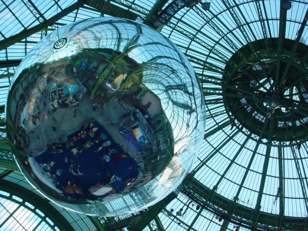 Detail of Tomás Saraceno's 'Aerocene: Around the World to Change the World' at the Grand Palais