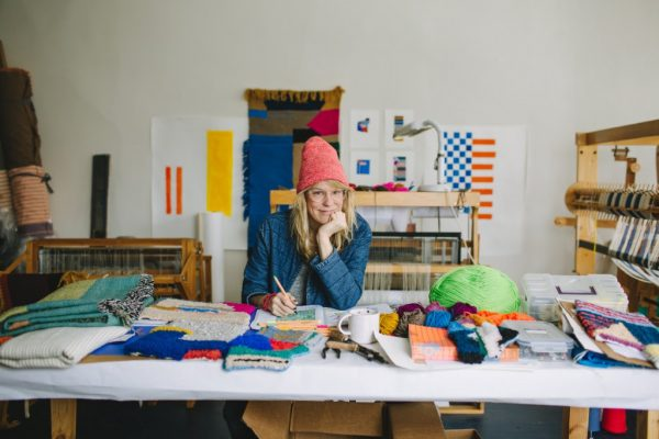 Incoming HCCC resident artist Dee Clemments (fiber). Photo by Marta Sasinowska.