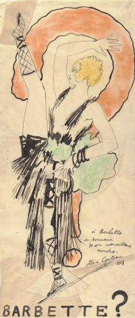 Jean Cocteau (French, 1889-1963). Barbette, 1923. Carlton Lake Art Collection. © 1923 ADAGP, Paris / Avec l'aimable autorisation de M. Pierre Bergé, président du Comité Jean Cocteau. Courtesy Harry Ransom Center.