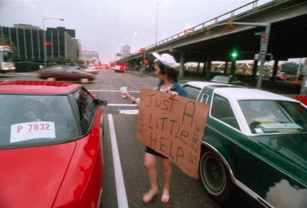 Ben DeSoto,Judy Pruitt at 18 years old, under the Pierce Elevated, Christmas week 1988.