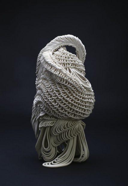Zoe Gross, Ebb/flow, 2017. White stoneware. Photo courtesy of the artist.