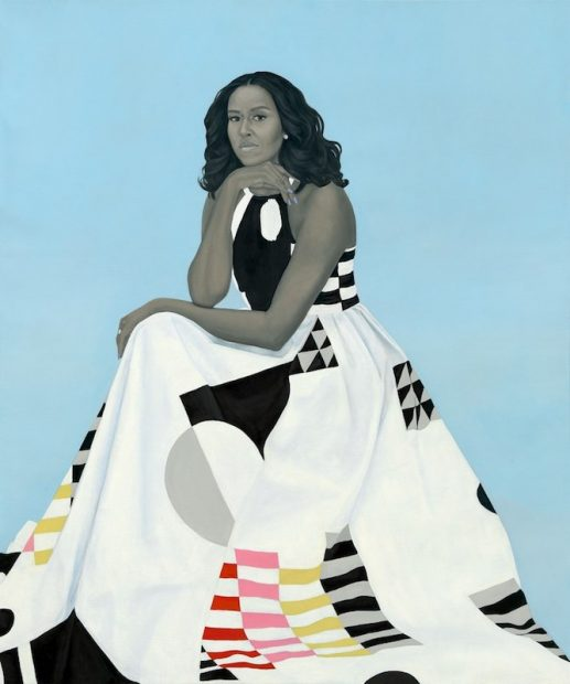 Amy Sherald's official portrait of Michelle Obama