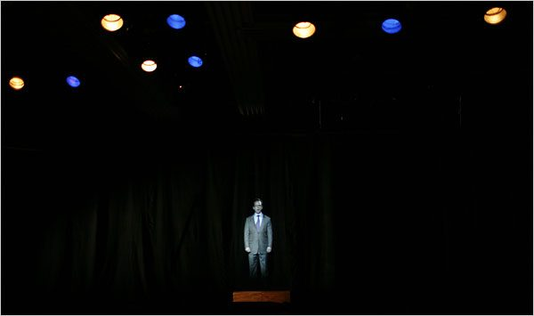 """A scene from Richard Maxwell's """"Ads"""" at Performance Space 122 in New York"""
