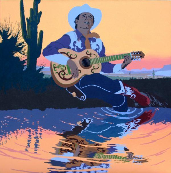 Billy Schenck, A Singing Cowboy's Hero Sunset, 1985. Oil on canvas.