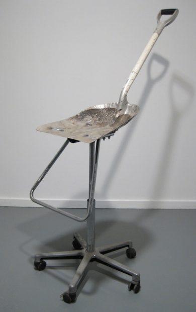 "Shovel, Chair Parts, Nuts, Bolts, 2011, 4'5"" x 3' x 1'6"""