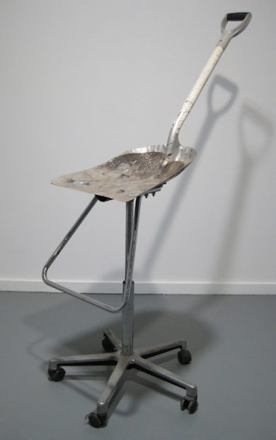 "Shovel, Chair Parts, Nuts, Bolts, 2011, 4'5"" x 3' x 1'6"""
