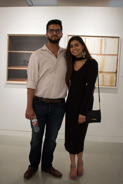 Ed Ghori and Sara Lakhani at-Houston-Center-for-Photography's-36th-Annual-Juried-Membership-Exhibition