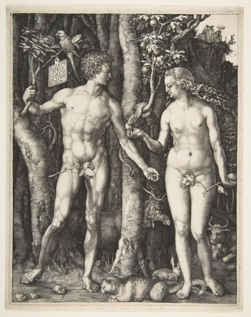 German artist Albrecht Dürer's engraving of Adam and Eve