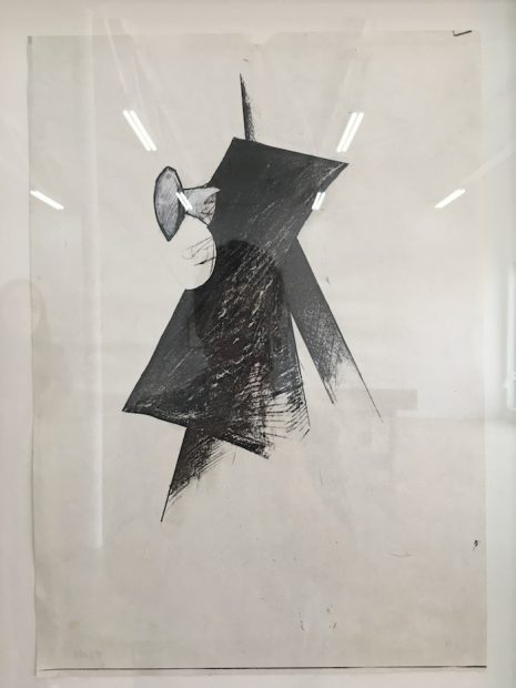 Jay DeFeo, Untitled (Tripod series), 1976. Graphite and acrylic on photocopy