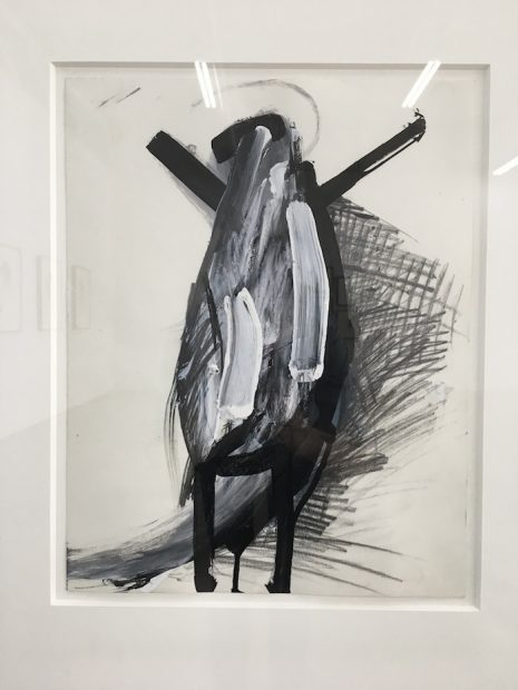 Jay DeFeo, Untitled (Tripod series), 1976. Graphite and acrylic on paper.