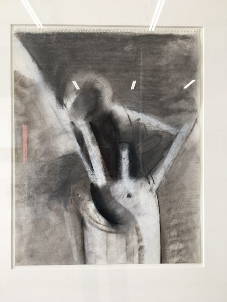 Jay DeFeo, Untitled (Compass series), 1979. Charcoal and chalk on paper