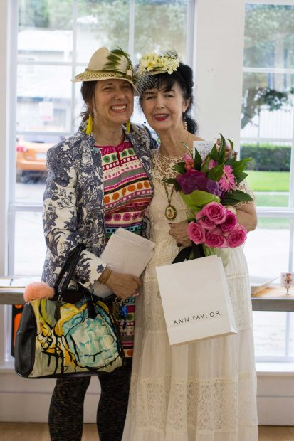 Image-from-the-opening-of-Anne-Reese-Hernandez's-show-at-Gspot-Gallery-in-Houston-Catherine-Anspon-and-Anne-Reese-Hernandez